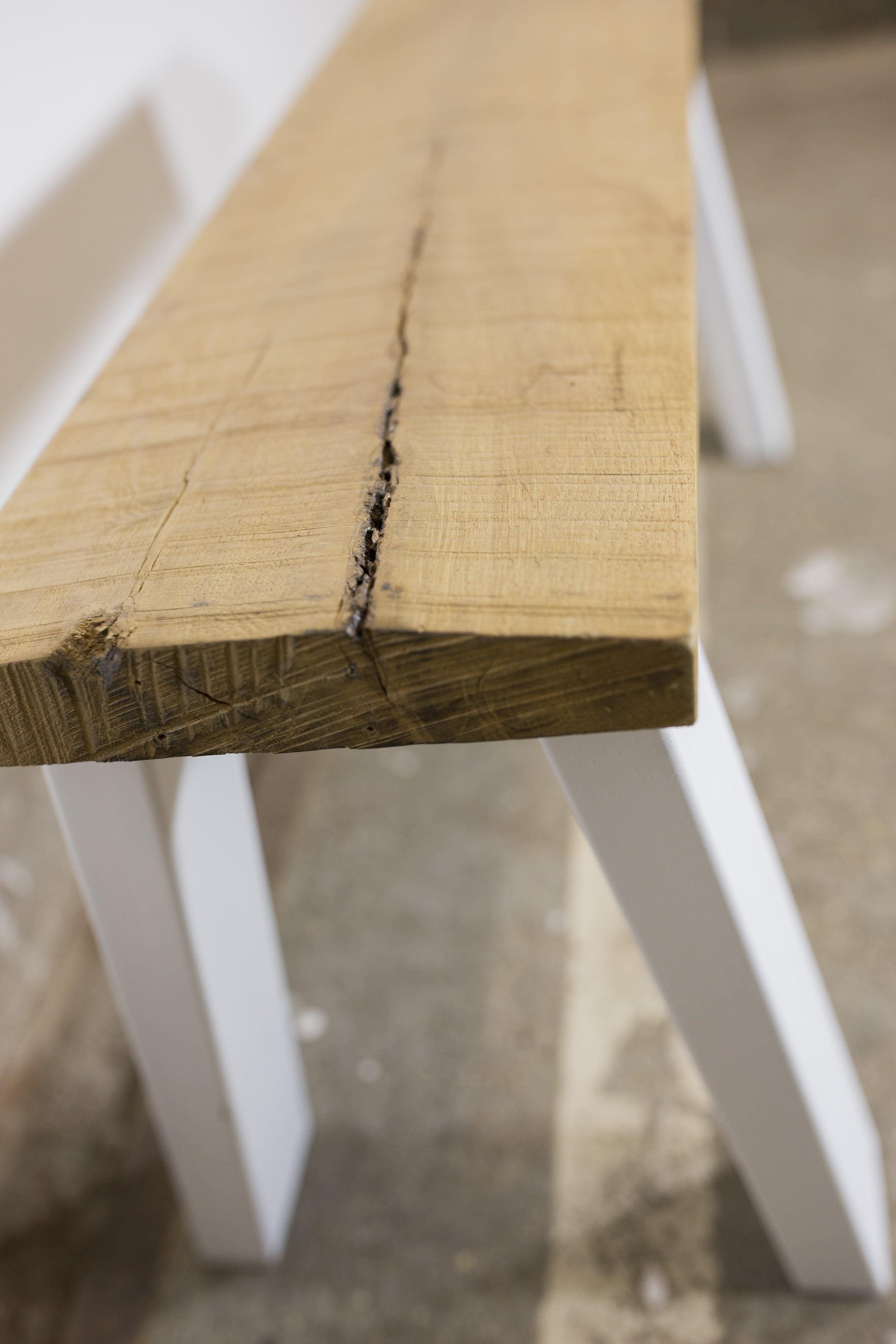 Wonderbaar Speels bankje van eikenhout | verschillende afmetingen ZQ-17