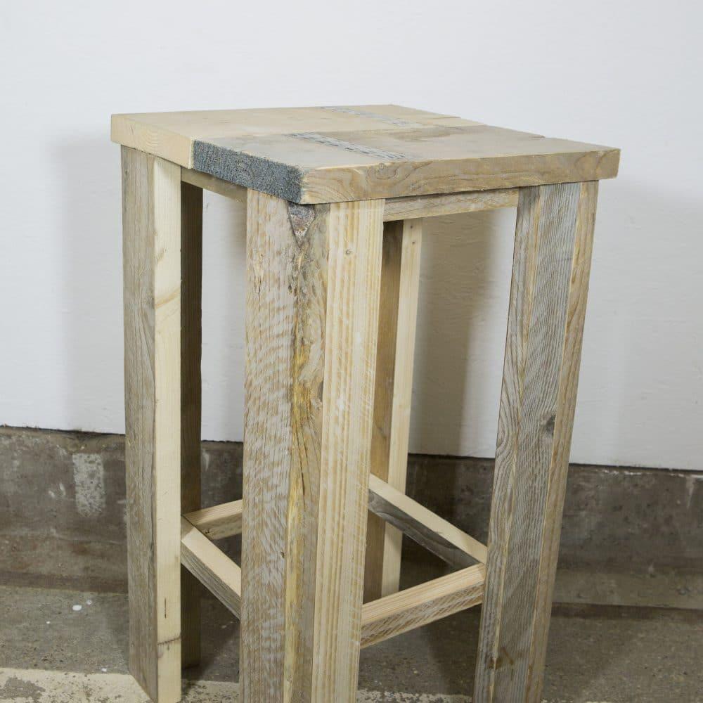 Steigerhouten barkruk