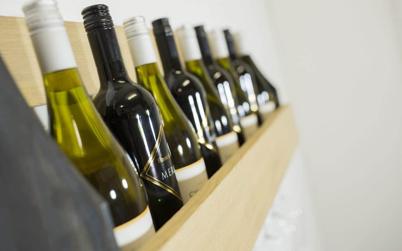 Wijnrek hangende glazen